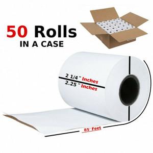 2 1/4 pulgadas x 85 pies de papel térmico recibo de la posición de la caja registradora Print Papers 50 Rolls w9Op #