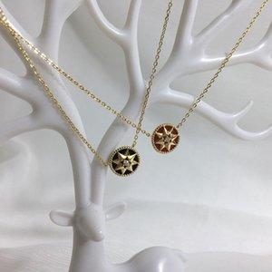 Hibeauty mère blanche et délicate de la perle réseau Lucky Red peut être porté à huit côtés Mountain Star clavicule collier chaîne