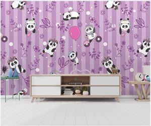 Custom photo wallpaper 3d wall murals wallpaper Cartoon hand drawn panda balloon children bedroom background wall papers home decoration