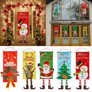 عيد الميلاد شرفة مغطاة باب راية الشنق الديكور زخرفة عيد الميلاد للمنزل عيد الميلاد 2020 سنة جديدة سعيدة 2021 DHL شحن مجاني