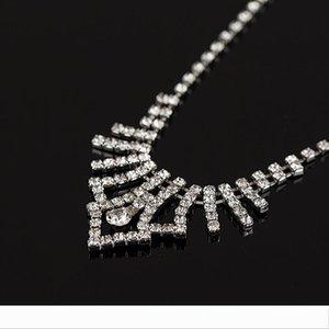 Дизайнер моды женщин 2016 хань издание дизайн высокого качества Свадебные кристально горный хрусталь ожерелье серьги Jewe