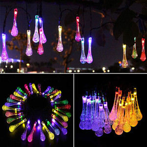 LED Water Drop Solar Powered Light Halloween Christmas Decorations 30 Lights Home Outdoor Garden Patio Party Holiday Supplies WX9-36
