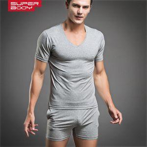 Mens Sexy Бесплатная доставка высокого качества нижнее белье пижамы дышащий пижама Мода Мужской Undershirt Набор 4 цвета 2020 новый стиль!