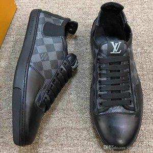 2019 calçados casuais dos homens novos de luxo de alta qualidade, sapatos de desporto de moda, entrega sapato embalagem original, metragem: 38-45