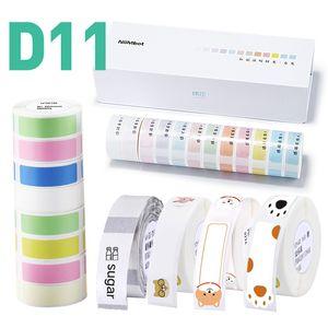 D11 프린터 인쇄 라벨 용 Niimbot 미니 라벨 용지 방수 방지 오일 가격 순수한 색상 스크래치 스티커 서류