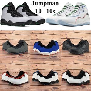 2020 السامي Jumpman 10 10S أحذية كرة السلة سياتل أجنحة مسحوق رجل إمرأة حذاء رياضة بارد رمادي دريك OVO أسود أبيض الدخان الخفيف المدربين الرمادي