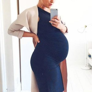 Fashion Women Pregnant O-Neck Sleeveless Nursing Maternity Solid Vest Dress maternity dresses New arrival August 13