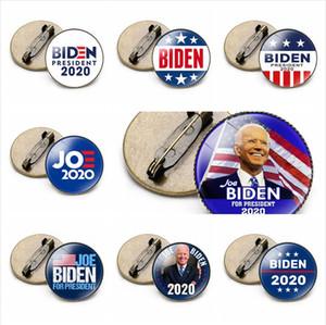 19 estilos Joe Biden Badges 2020 América Presidente Eleitorais Fontes US Estrela Bandeira Biden Tempo Vote Broche Partido emblema Gem do presente do favor LJJP432