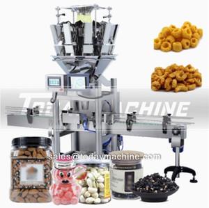 Paketleme Makinası Granül Dikey Formu doldurun Seal Multihead Kantarı Üretim Hattı Tartı Snack Gıda Elma Cips Peynir Topu