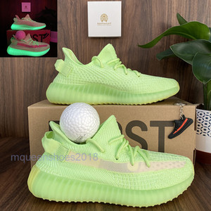 Top-Qualität Herren Laufschuhe Frauen Runner Turnschuhe Kanye West Israfil Glow In The Dark Eliada Cinder Rücklicht V2 Chaussures Doppel Box