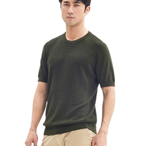 Zhili Men's T Shirt Soft Wool Blend Fabric 0924