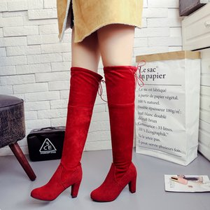 Explosive European and Beautiful Women Over The Knee Boots Fashion High-heeled Women Boots Trending Sleeves Plus Size Boots35-43