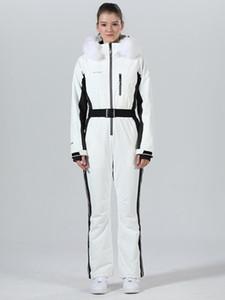 Kayak Suit Kadın Tek parça Kayak Ceket Kadınlar Jumpsuit Snowboard Kış sporları Suit Kayak Snowboard Seti Kar Giyim Suits
