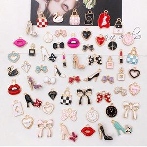 55pcs / pack Multistyle Bracelet Collier Diy Charms Pendentifs mignon bijoux bri Faire Accessoires Composants Prix de gros
