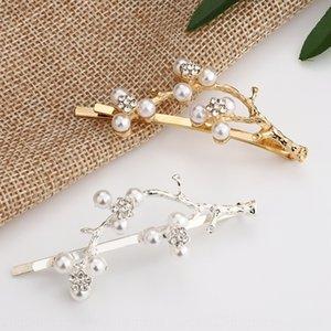 Mei Huazhi Lady temperament alloy branch hair clip antler Liu Hai hair clip women's Korean style Mori girl Pearl Pearl series