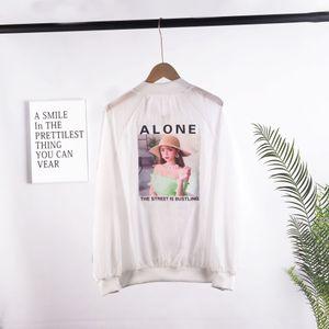 2020 verano nueva celebridad en línea ropa de mitad de la longitud del juego de béisbol protector solar ropa de mujer ropa de protección solar ropa de béisbol floja delgada