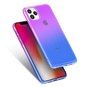High quality Gradient Dual Color Transparent TPU Shockproof Phone Case for iPhone 11 Pro Max XR XS MAX 8 Plus S10 Plus Note 10 Pro