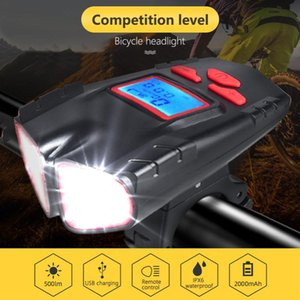 Computer LCD speedometer bicycle waterproof front bike light Lantern USB rechargeable bicycle headlight cycling bell