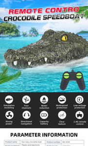 Manufacturer direct sale 2.4g electric four-way remote control high speed crocodile boat summer waterboat spoof toys wholesale2