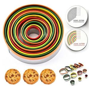 Eierform Bunte Edelstahl Keks Schneiden Set Runde Form Formen Mousse Cake Biskuit Donuts Cutter Küchenwerkzeuge Sea WGY DWF3358