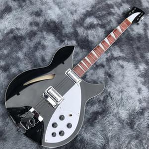 Пользовательские полые тела Ricken 360 электрическая гитара в черном