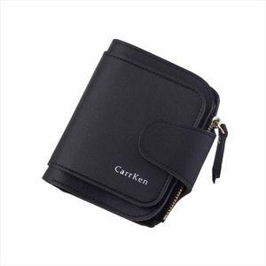 Women Leather Flip Wallet Case 2019 Solid Color Casual Bucket Bag Fashion Handbags Women Short Coin Purses Holders Wallet Case