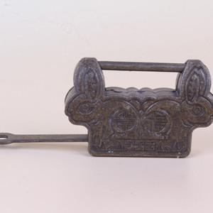 Chinese Antique Collection Brass Handmade Sculpture Lock Statue ZJ196