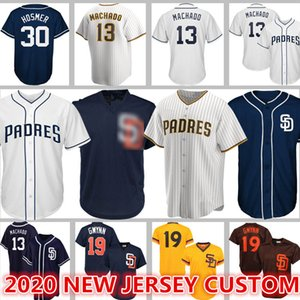 13 Manny Machado Jerseys Padres personalizado 30 Eric Hosmer 19 Tony Gwynn 4 Wil Meyers 23 Fernando Tatis Jr 2 Trent Grisham 4 Wil Myers