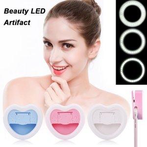 Vbestlife Téléphone mobile selfie Portable Led Fill Light 23 lampe perles W / miroir de maquillage pour tous les smartphones Livraison gratuite