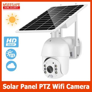 1080P Solar Panel PTZ IP Camera Wifi Outdoor PIR Human Alarm CCTV Security Camera 15000MAH Battery Long Standby 2MP Wirless IPC