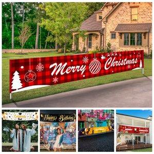 عيد ميلاد سعيد راية غاسل هالوين خريج عيد ميلاد سعيد لافتة كبيرة عيد الميلاد تسجيل البيت حزب ديكور المنزل الدعائم 3M * 50CM FFA4367-6