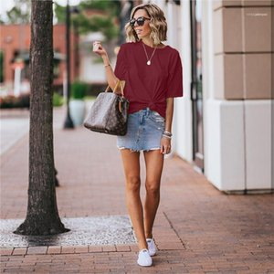 Sleeve Tops Womens Designer T Shirts Pure Color Tees Fashion Crew Neck Clothing Womens Casual Short