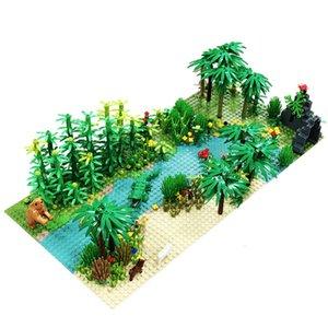 Regenwald Tier Grasbaum Building Blocks mit Grundplatte Stadt MOC Accories Teile DIY kompatibel Alle Marken
