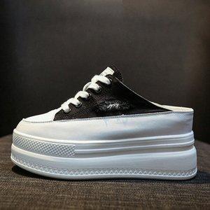 Yarım Drag Yürüyüş Ayakkabı Kadın 2020 Yeni Kore Sürüm Daha kalın Alt Artan Branda Sneakers İçin Kadınlar ZP 245 Süet Ayakkabı Ayakkabı Satış uUkY #