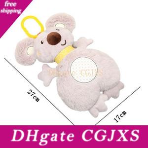 Bambini giocattoli del bambino Coniglio Dormire Comfort musicale peluche Rattle Toy Doll multifunzionale Appease tovagliolo tovagliolo della saliva Koala Doll 2