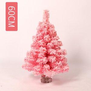 CHUNMU Simulation Rose Encryption Flocage Mini Arbre de Noël de bureau Décoration de Noël Nouvel An Cadeaux Enfants Jouets artificiels