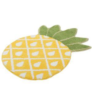 Home Decor Cartoon Pineapple Bedroom Area Rug Water Absorption Carpet Floor Mat