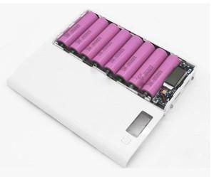 Горячая продажа 5V Dual USB 8 * 18650 Power Bank Battery Box Мобильный телефон зарядное устройство DIY Shell чехол для iphone6 Plus S6 Xiaomi