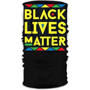Black Lives Matter Turban Magic Bandanas Headscarf USA Parade Face Masks Headband Cycling Mask Multifunctional Neck Wrap Scarf IIA541