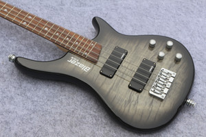 Custom 6 string grey burst Bass ,One piece Body and rosewood Fingerboard 24 Frets,China Electric Guitar Bass