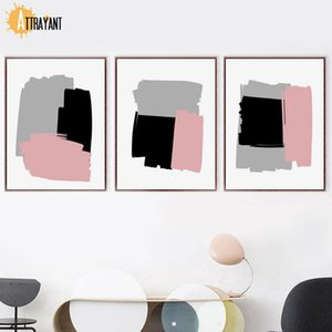 Abstract Painting Art Color Block Wall Art Canvas pittura nordica Poster e stampe Foto a parete per il salone della camera da letto