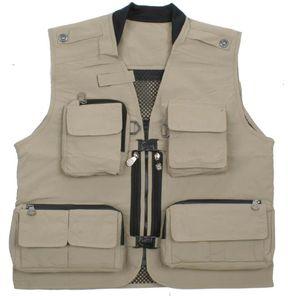 Breve -Essiccazione Vest multi tasche Fotografia Vest adversting Gilet Tasche Camera Man Vest lavoro unifrom Uomini Donne Vt -020