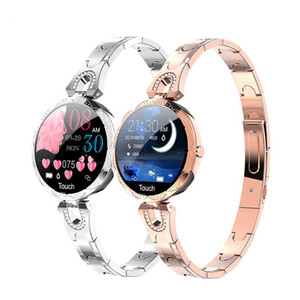 AK15 Smartwatch with Heart Rate Monitor Blood Pressure Clock Fashion Smart Waterproof Physiological Cycle Watch Support for Women Lady