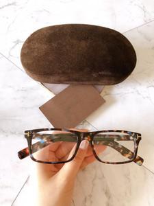 Dernière mode lunettes monture de lunettes rectangle de cadre, cadres optiques de haute qualité pour unisexe, monture de lunettes gros glassesTF5663-B plaine