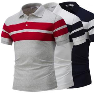 Polos Mode Hommes Polos Casual Classic Solid Apparel rayé Mens Designer