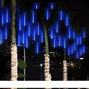 Edison2011 2020 8pcs mucho nevadas tira de LED luz de la Navidad Meteor Light Nublado el tubo de luz de la secuencia de CA 100-240V para Navidad fiesta de la boda