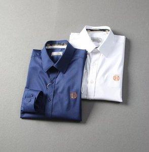 New Outono / Inverno 2020 camisa de algodão sem engomar puro manga longa estilo quente camisa de algodão rugas resistentes comercial