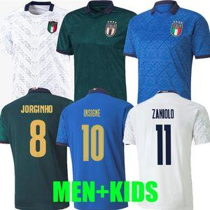 2020 2021 이탈리아 홈 축구 유니폼 멀리 (20 개) (21) 3XL 4XL 이탈리아 Maglie의 다 칼초 Verratti 조르지 루이스 프 렐루 Romagnoli 움직이지 MEN KIDS 축구 셔츠