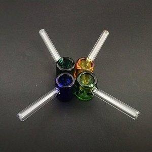 классические стеклянная карманная труба молотка формы курительной трубка 3,26 дюйма мини Galss труба прямая труба на складе оптовой Uj7m #