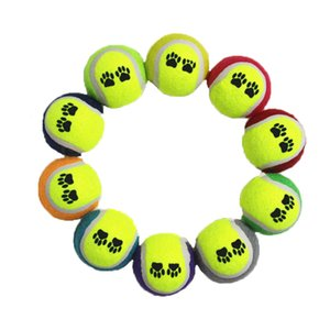 New EVA pet tennis toy ball footprint pattern dog throwing toy natural rubber relieve boredom and decompression
